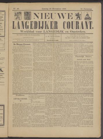 Nieuwe Langedijker Courant 1896-11-29