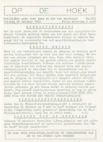 Op De Hoek, weekblad voor Akersloot 1962-10-26