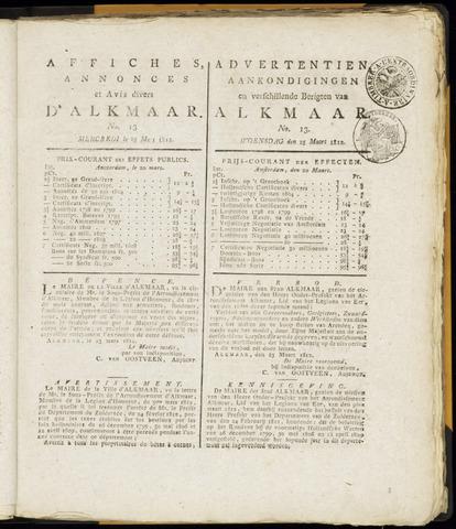 Alkmaarsche Courant 1812-03-25