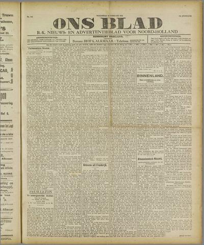 Ons Blad : katholiek nieuwsblad voor N-H 1921-02-16
