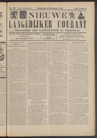 Nieuwe Langedijker Courant 1925-11-19