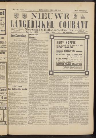 Nieuwe Langedijker Courant 1931-03-03