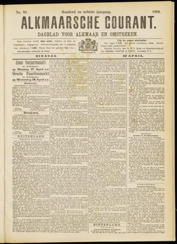 Alkmaarsche Courant 1906-04-10