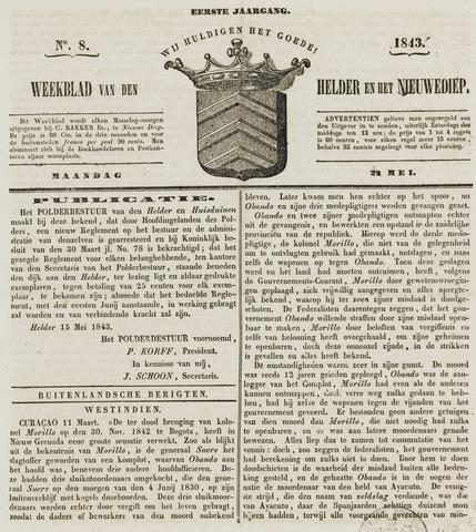 Weekblad van Den Helder en het Nieuwediep 1843-05-22