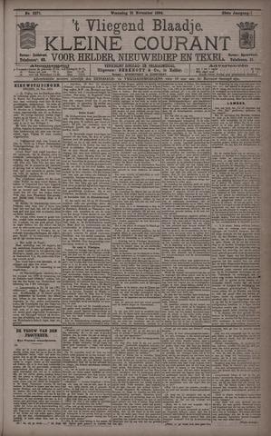 Vliegend blaadje : nieuws- en advertentiebode voor Den Helder 1894-11-21