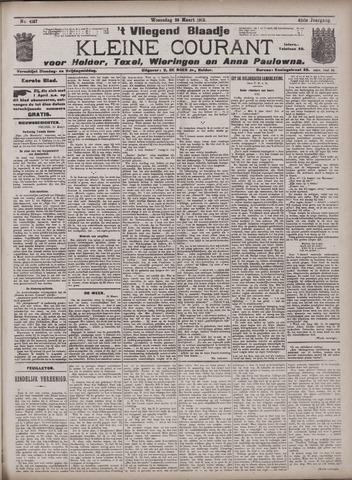 Vliegend blaadje : nieuws- en advertentiebode voor Den Helder 1913-03-26