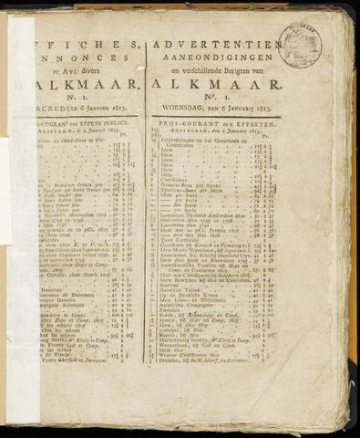Alkmaarsche Courant 1813-01-06