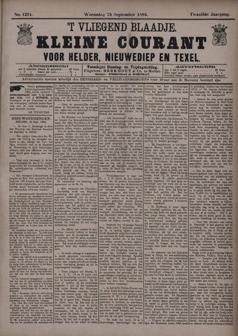 Vliegend blaadje : nieuws- en advertentiebode voor Den Helder 1884-09-24