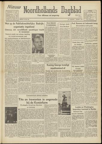 Nieuw Noordhollandsch Dagblad : voor Alkmaar en omgeving 1948-06-29