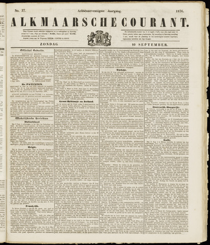 Alkmaarsche Courant 1876-09-10