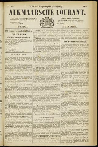 Alkmaarsche Courant 1892-11-13