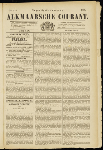 Alkmaarsche Courant 1888-11-30