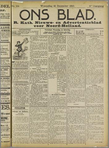 Ons Blad : katholiek nieuwsblad voor N-H 1910-12-21