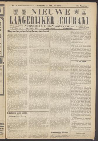 Nieuwe Langedijker Courant 1930-03-25