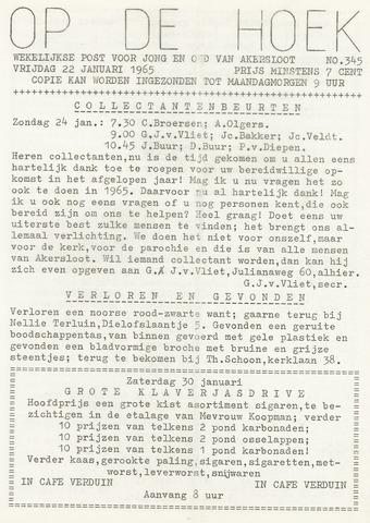 Op De Hoek, weekblad voor Akersloot 1965-01-22