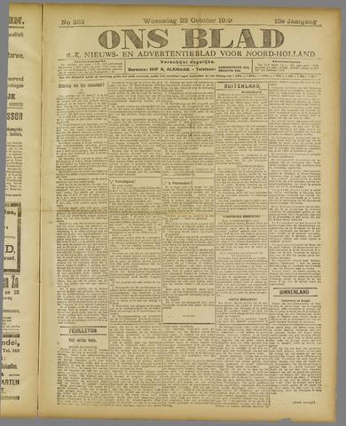 Ons Blad : katholiek nieuwsblad voor N-H 1919-10-22
