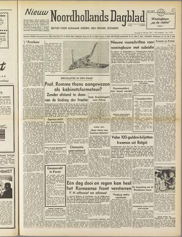 Nieuw Noordhollandsch Dagblad : voor Alkmaar en omgeving 1951-02-27