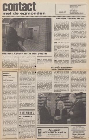 Contact met de Egmonden 1976-04-14