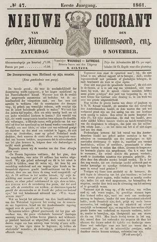 Nieuwe Courant van Den Helder 1861-11-09