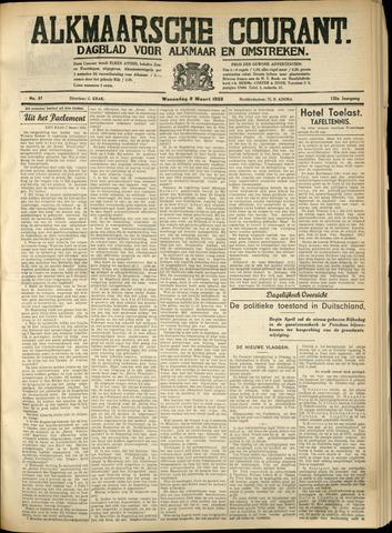 Alkmaarsche Courant 1933-03-08