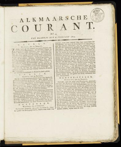 Alkmaarsche Courant 1815-02-06
