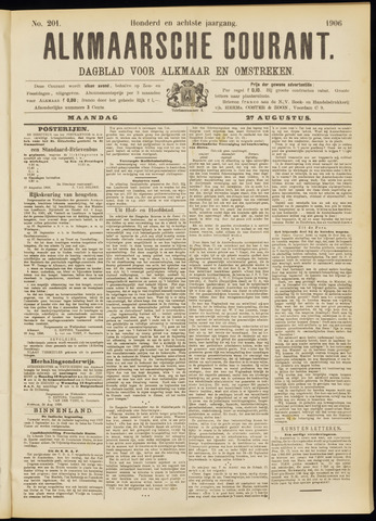 Alkmaarsche Courant 1906-08-27