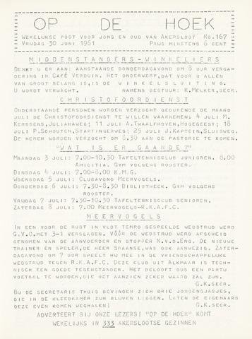 Op De Hoek, weekblad voor Akersloot 1961-06-30