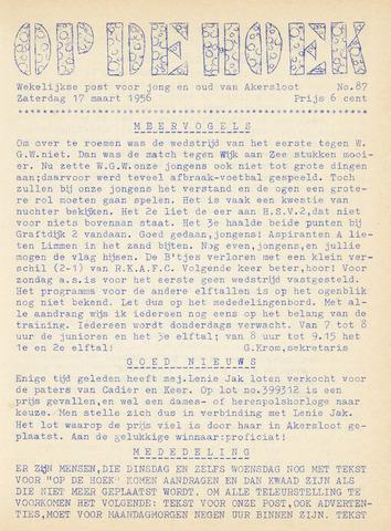 Op De Hoek, weekblad voor Akersloot 1956-03-17