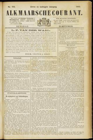 Alkmaarsche Courant 1885-09-29