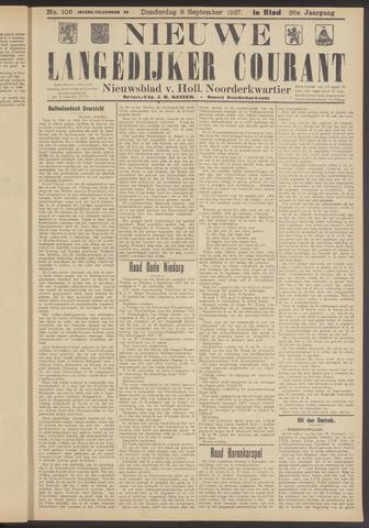 Nieuwe Langedijker Courant 1927-09-08