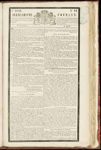 Alkmaarsche Courant 1849-04-02