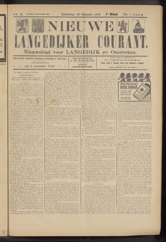 Nieuwe Langedijker Courant 1924-01-26