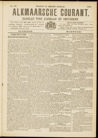 Alkmaarsche Courant 1907-01-19