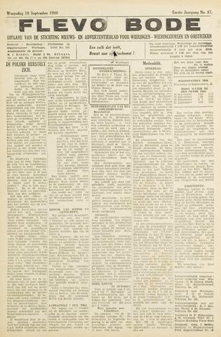 Flevo-bode: nieuwsblad voor Wieringen-Wieringermeer 1946-09-18