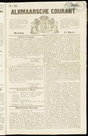Alkmaarsche Courant 1854-03-13