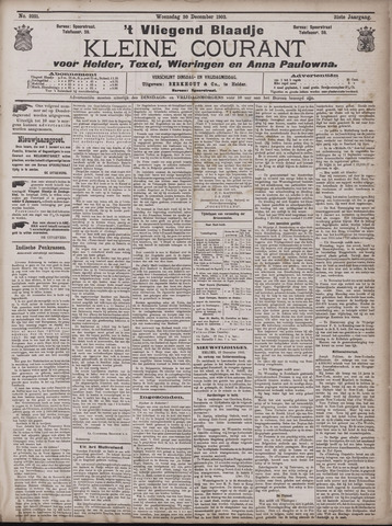 Vliegend blaadje : nieuws- en advertentiebode voor Den Helder 1903-12-30