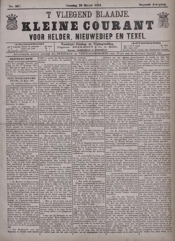 Vliegend blaadje : nieuws- en advertentiebode voor Den Helder 1881-03-29