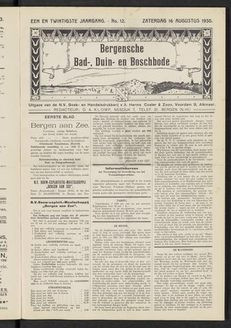 Bergensche bad-, duin- en boschbode 1930-08-16