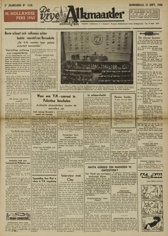 De Vrije Alkmaarder 1948-09-23