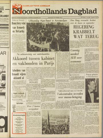 Noordhollands Dagblad : dagblad voor Alkmaar en omgeving 1968-05-27