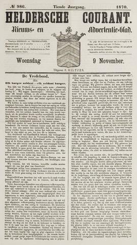 Heldersche Courant 1870-11-09
