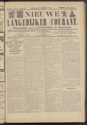 Nieuwe Langedijker Courant 1923-01-30