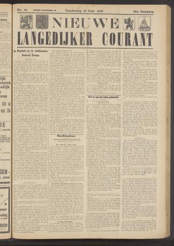 Nieuwe Langedijker Courant 1926-06-10