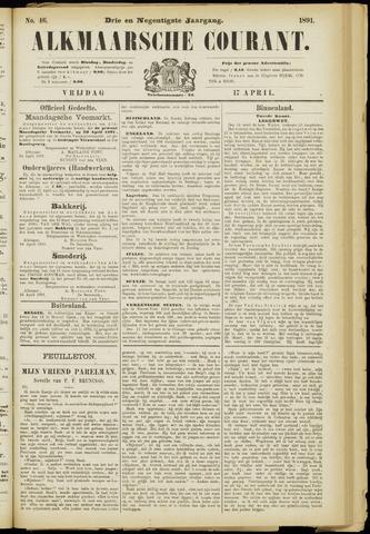 Alkmaarsche Courant 1891-04-17