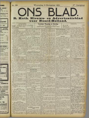 Ons Blad : katholiek nieuwsblad voor N-H 1911-11-08