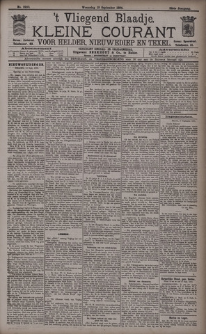 Vliegend blaadje : nieuws- en advertentiebode voor Den Helder 1894-09-19