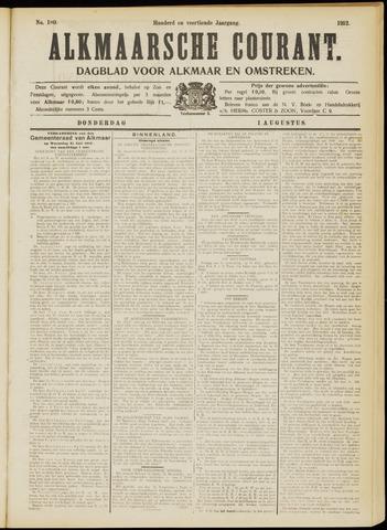 Alkmaarsche Courant 1912-08-01
