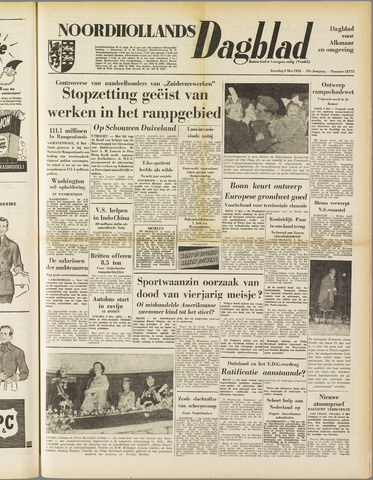 Noordhollands Dagblad : dagblad voor Alkmaar en omgeving 1953-05-09