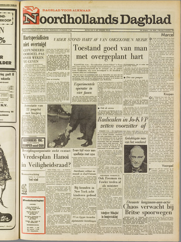 Noordhollands Dagblad : dagblad voor Alkmaar en omgeving 1967-12-04