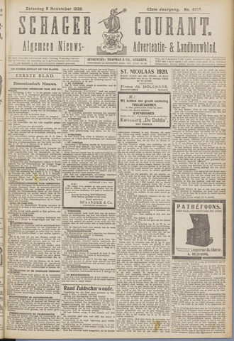 Schager Courant 1920-11-06